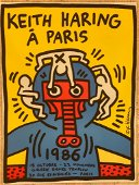 Keith Haring A Paris Giclee on Paper