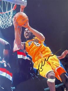 Autographed Kobe Bryant Scoring Photograph