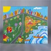 Tammy Serpa Folk Art Painting signed Tamser