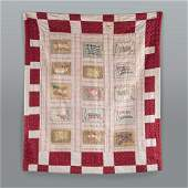 1920s quilt with Confederate Flag