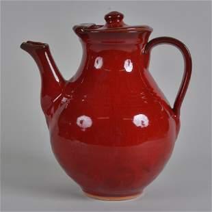 ML Owens Tea Pot Red Glaze