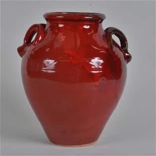 ML Owens 2 Handled Vase