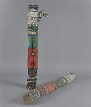 Folk Art Boy Scout Totem Poles