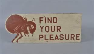 Folk Art Painted Trade Sign