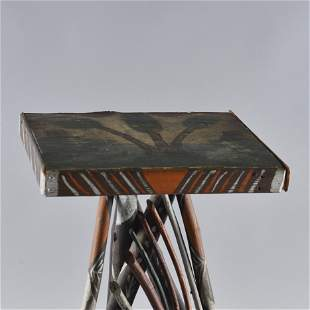 Folk Art Root Painted Table