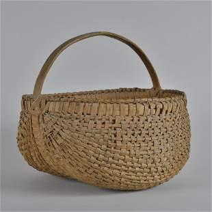 Antique Oak Split Basket