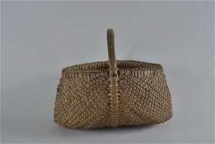 Antique Southern Oak Split Basket