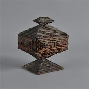 Tramp Art Lidded Box