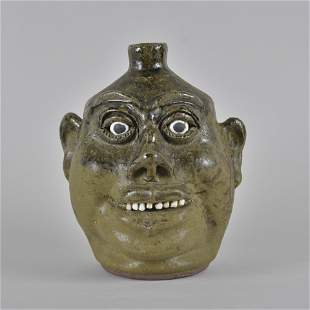 Lanier Meaders Face Jug African American Features