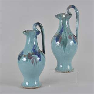 AR Cole Pottery Rebecca pitchers pair