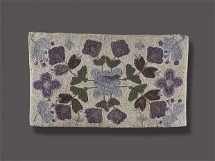 Flower Pattern Hooked Rug