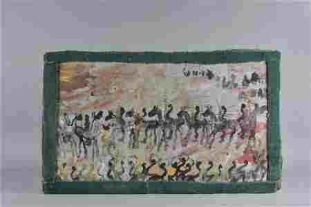 """Purvis Young (1943-2010) American Outsider Folk Art 46"""""""