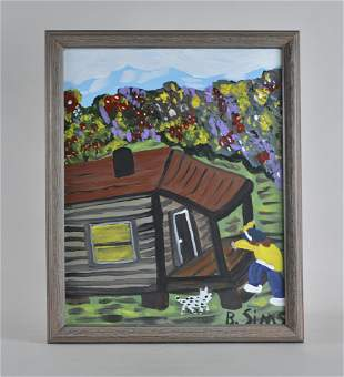 Bernice Sims folk art painting African American Alabama