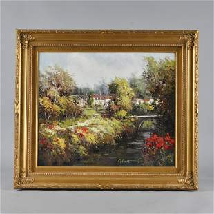 Oil on Canvas American School signed GILBERT