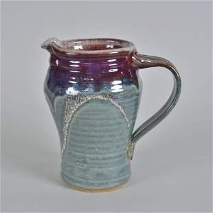 Mid Century style Tankered Pitcher studio potter