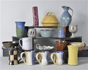 Owens Pottery / NC Studio Pottery lot (18)