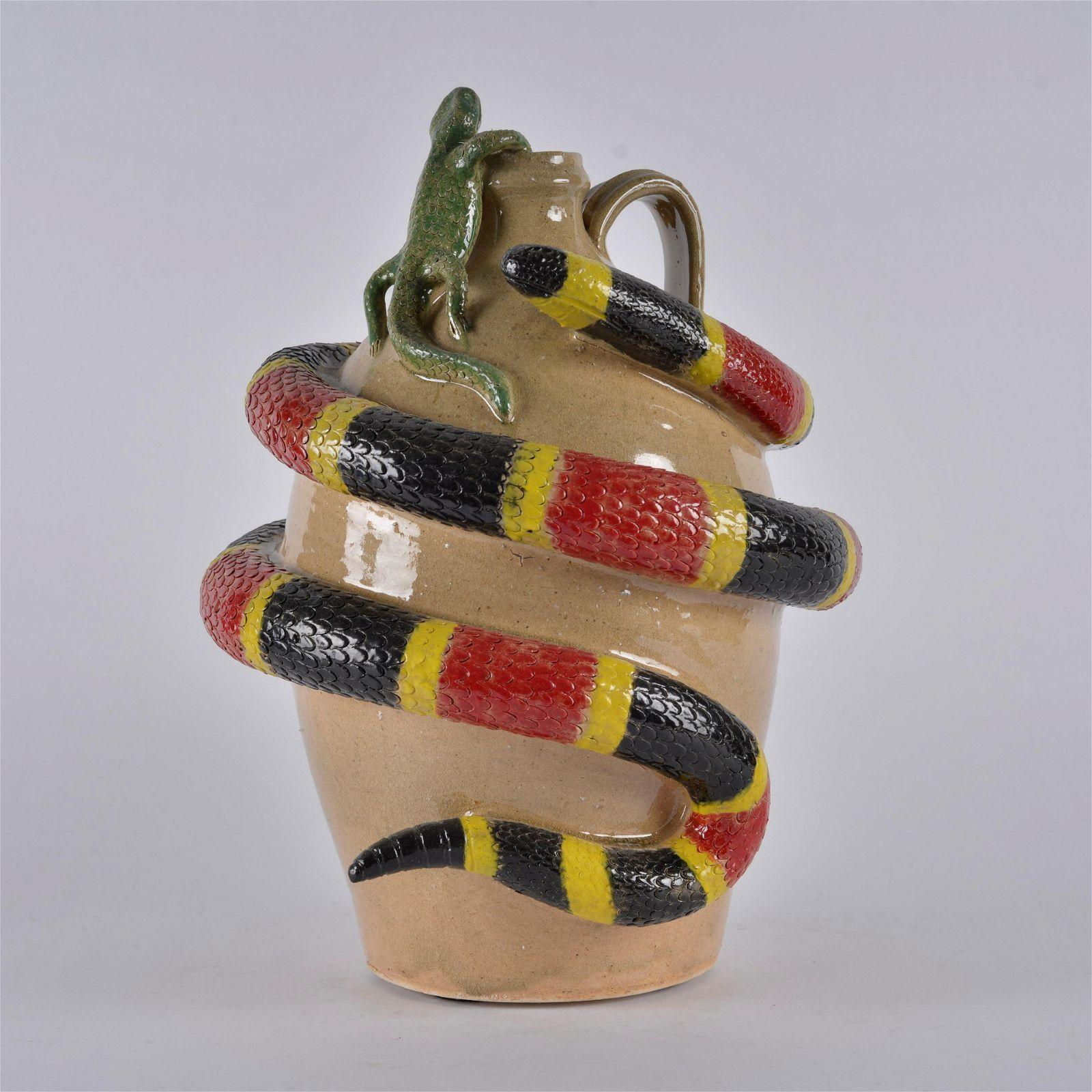Clint Alderman Coral Snake Jug
