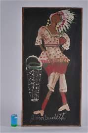 "Jiimmy Lee Sudduth on wood board  ""Cher"""
