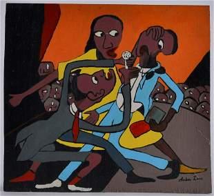 Arbon Lane Folk Art Painting (jazz singers)