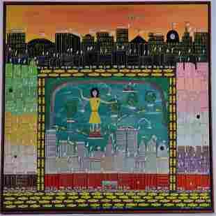 Benny Carter Folk Art Painting (canvas)