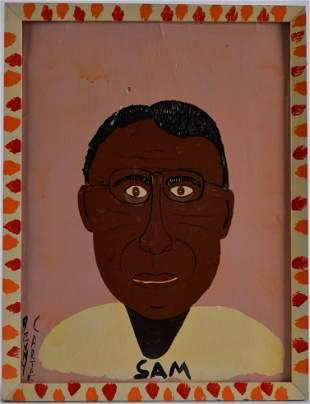 Benny Carter painting of Same the Dot Man