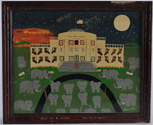 Benny Carter Early Painting (white house)