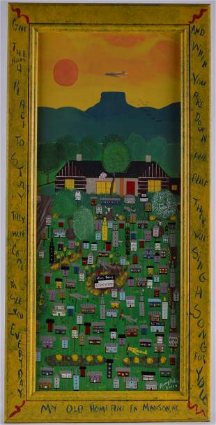 Benny Carter Folk Art Painting (my old homeplace)