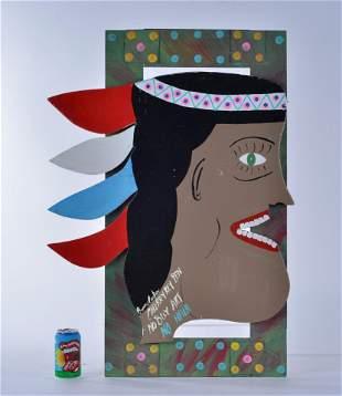Benny Carter Folk Art (indian cutout)