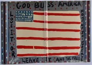 Benny Carter Folk Art (american flag)