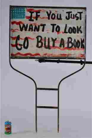 Benny Carter Folk Art (painted yard sign)