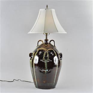 Marvin Bailey Face Jug Lamp