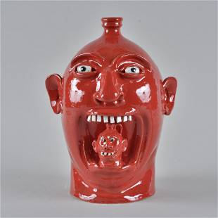 Marvin Bailey Face Jug Mouth Full
