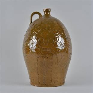 Marvin Bailey Incised 3 gallon jug