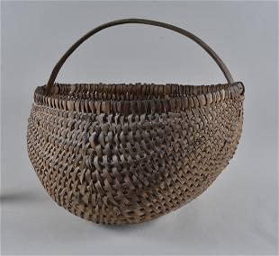 Large Alamance County Oak Split Basket ca. 1860