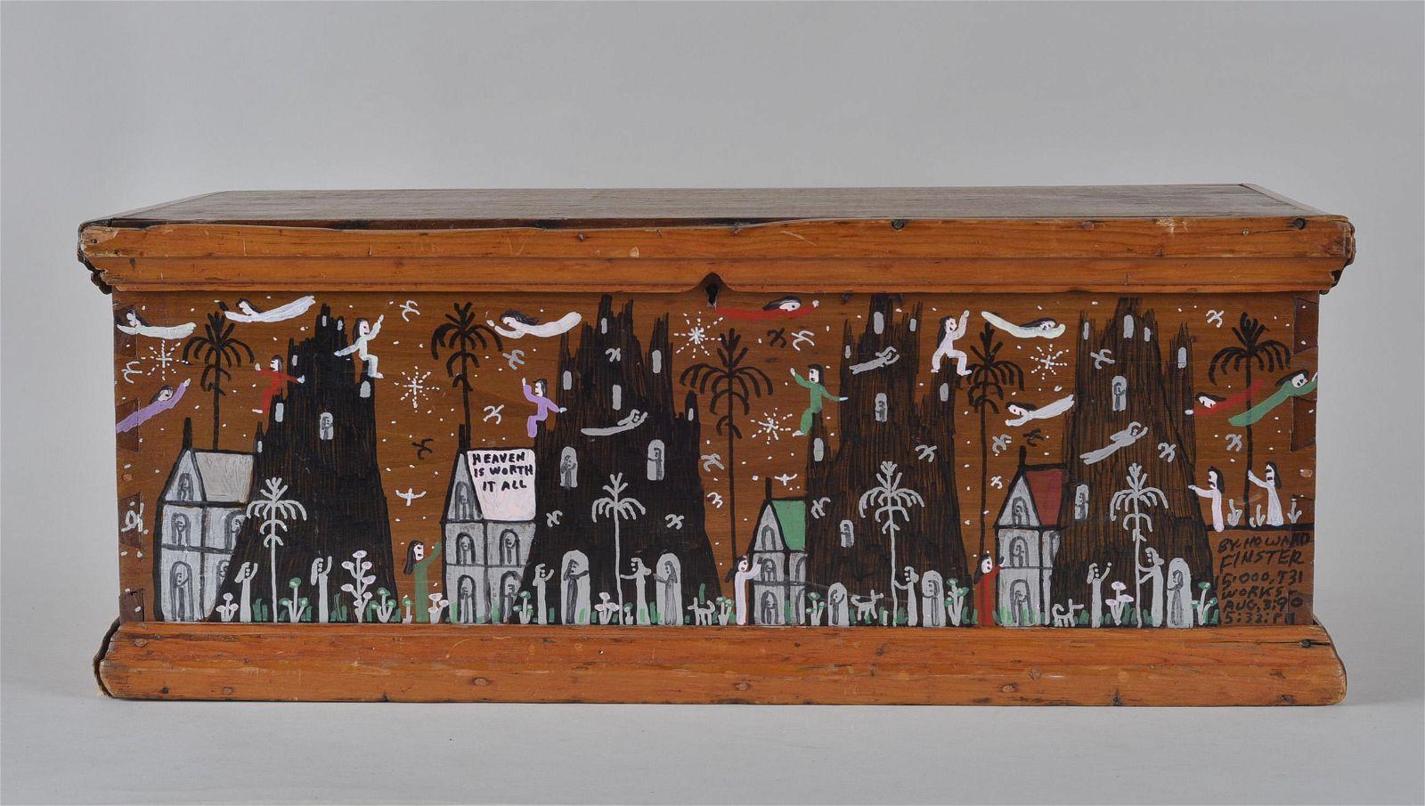Howard Finster Folk Art Chest