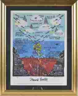 Howard Finster Signed Print