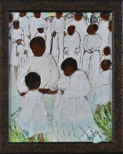 Nellie Ashford collage folk art