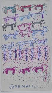 Carter Wellborn folk art drawing
