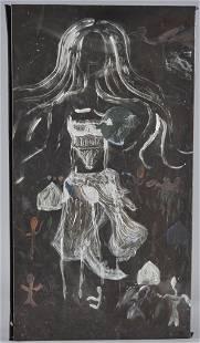 """Painting on Tin 16"""" x 30"""""""