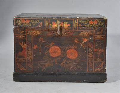 Chinese decorated blanket chest