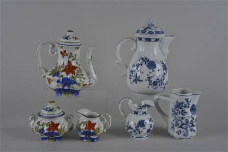 2 teapot sets fine china