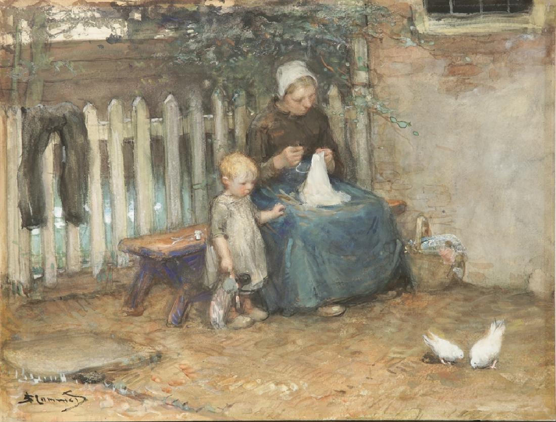 BERNARD JOHANNES BLOMMERS DUTCH 1845-1914