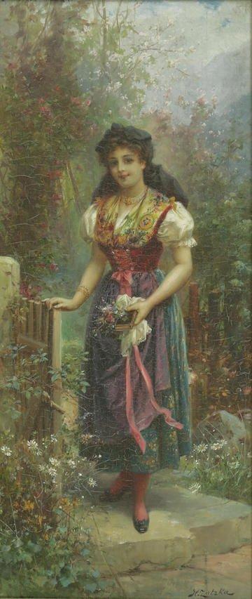 HANS ZATKA AUSTRIAN 1859-1945