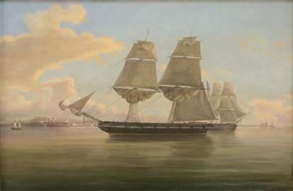 THOMAS BIRCH ANGLO/AMERICAN 1779-1851