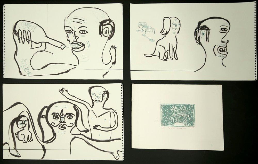 5 PIECES BY CHRIS JOHANSON AMERICAN B.1968 - 2