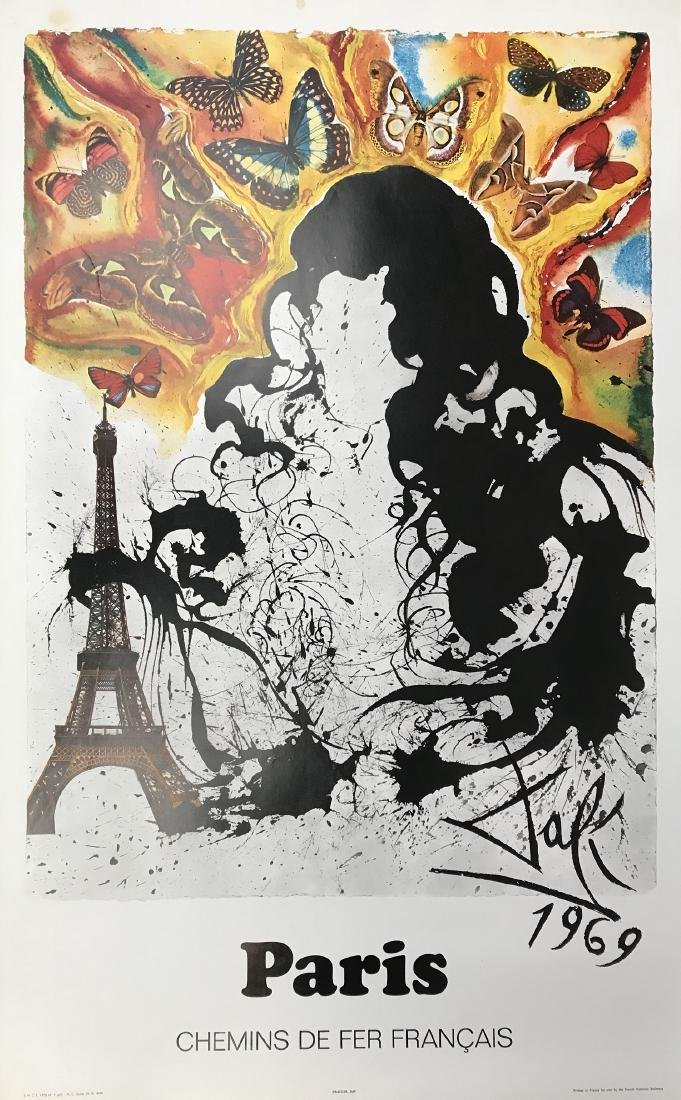 3 FRENCH TRAVEL POSTERS BY SALVADOR DALI SPANISH 1904-1