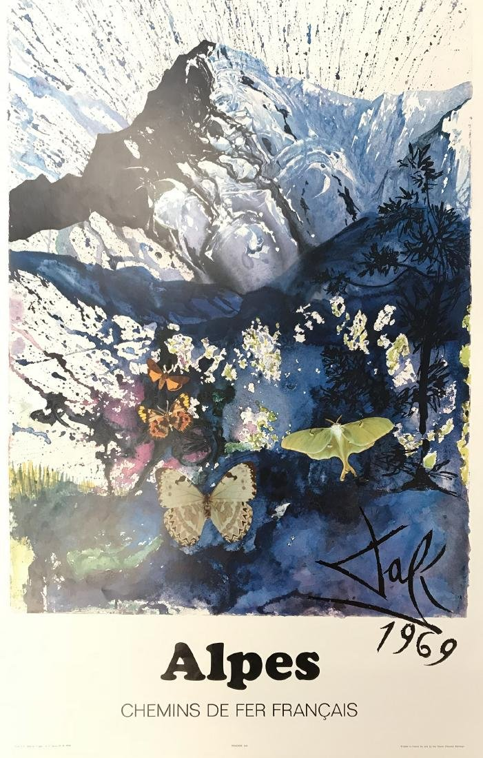 3 FRENCH TRAVEL POSTERS BY SALVADOR DALI SPANISH 1904-1 - 3