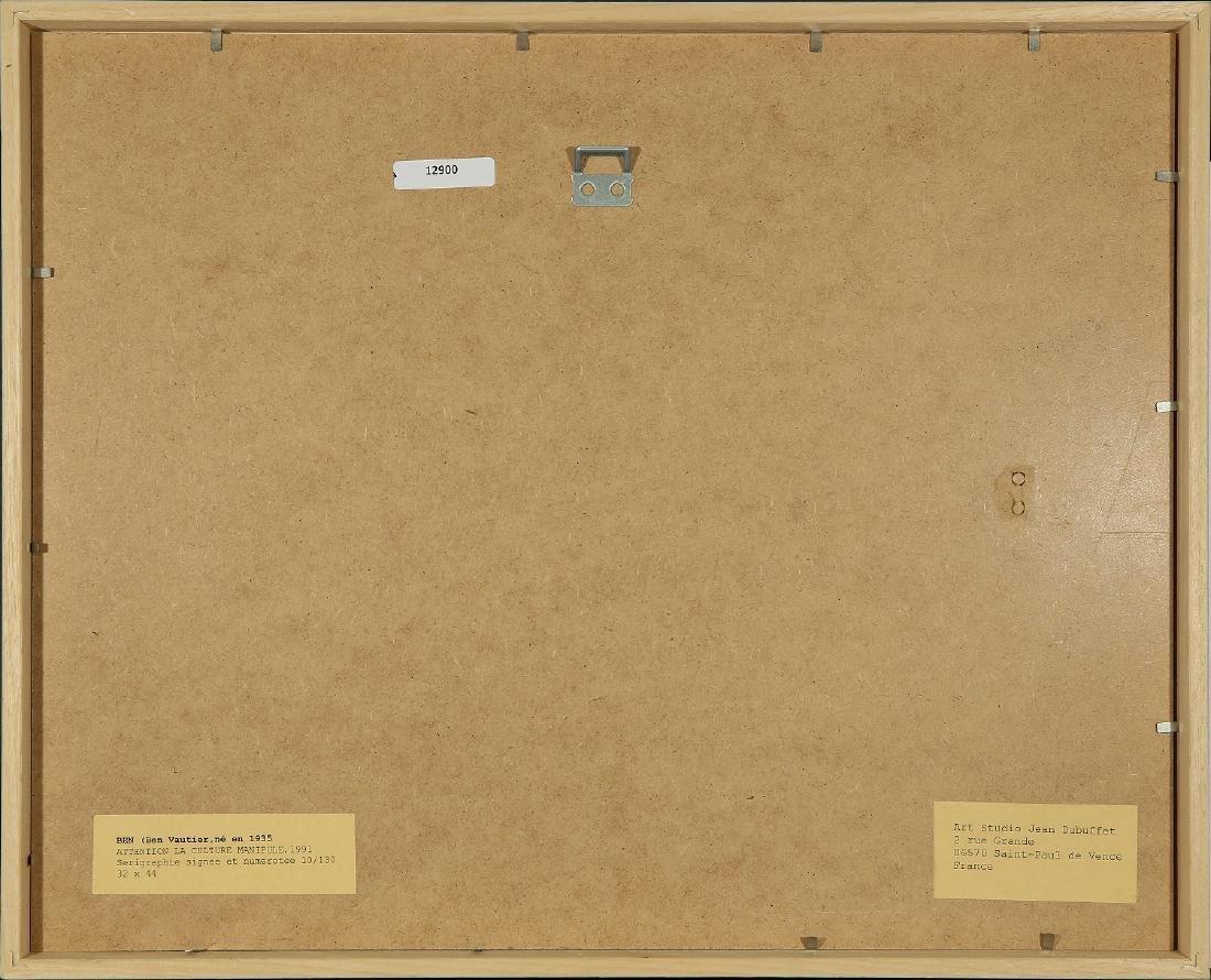 BEN VAUTIER FRENCH B.1935 - 3