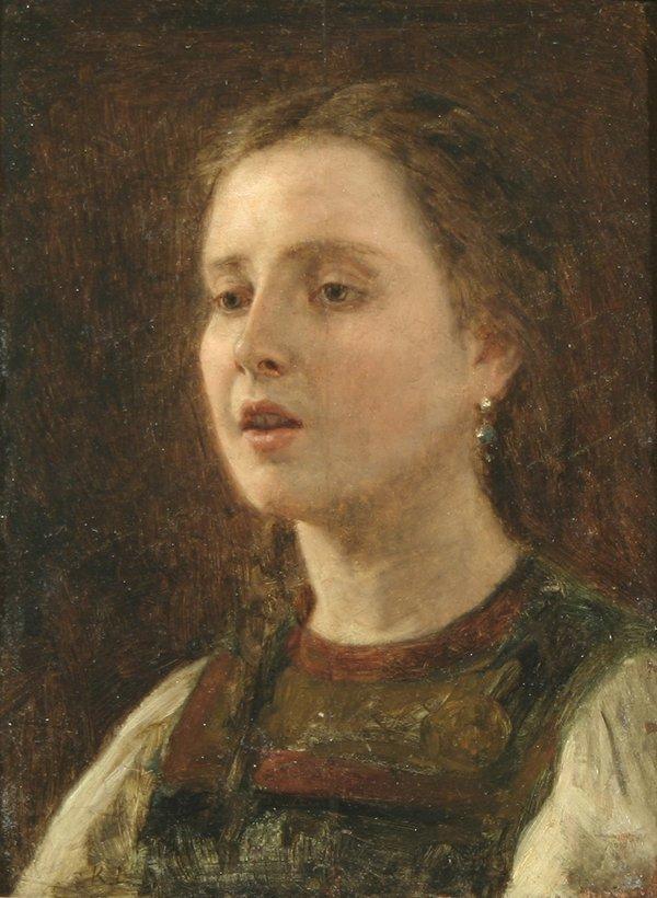 2: K.J. LASCH B1822 Russian Portrait Oil Painting