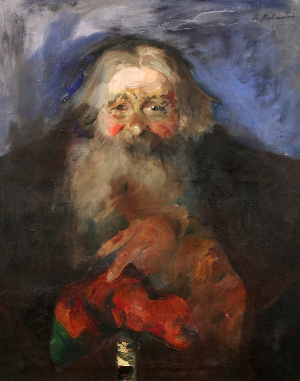 15: P. MALIAVIN B1869 Russian Figural Oil Painting